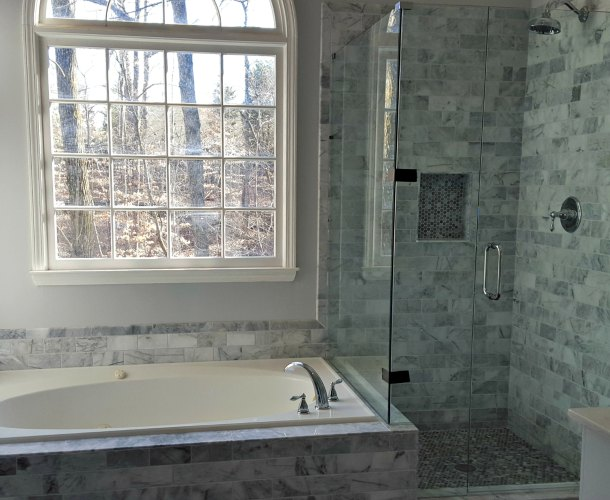 Marble Bathroom Tile Renovation Atlanta GA Fast Eddies Home Services    FullView