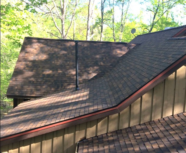 Reroof Project After Completion 2 Fast Eddies Home Services Atlanta GA  Cashiers NC Roofing Company Contractor. Replacement Roofing Project